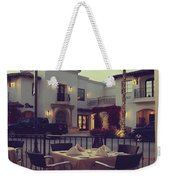 Outside Dining Weekender Tote Bag by Laurie Search