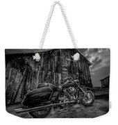 Outside The Barn Bw Weekender Tote Bag