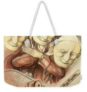 Over-pope-ulation - Cartoon Art Weekender Tote Bag
