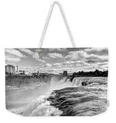 Over The Edge 1 Bw Weekender Tote Bag