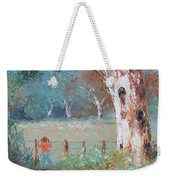 Over The Fence By Jan Matson Weekender Tote Bag