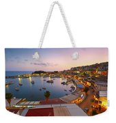 Over The Marina Weekender Tote Bag
