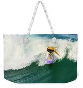 Over The Top Weekender Tote Bag by Laura Fasulo