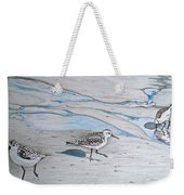 Overcast Day With Sanderlings Weekender Tote Bag