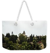 Overlooking The Alhambra On A Rainy Day - Granada - Spain Weekender Tote Bag