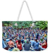 Overlooking The Asheville Drum Circle Weekender Tote Bag