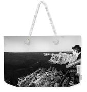 Overlooking The Canyon Weekender Tote Bag