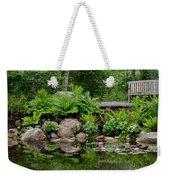 Overlooking The Lily Pond Weekender Tote Bag
