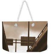 Overpass In Sepia Weekender Tote Bag