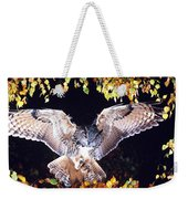 Owl About To Land Weekender Tote Bag by Manfred Danegger