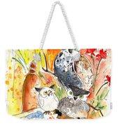 Owl Family In Velez Rubio Weekender Tote Bag