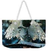 Owl In Snow Weekender Tote Bag