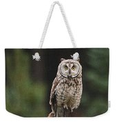 Owl In The Forest Visits Weekender Tote Bag