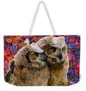 Owlets In Color Weekender Tote Bag