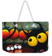 Owls In The Forest Weekender Tote Bag