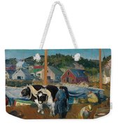 Ox Team. Wharf At Matinicus Weekender Tote Bag