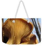 Oyster Mushroom Macro Weekender Tote Bag