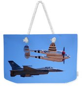 P-38 And Jet Weekender Tote Bag