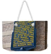 Pa-129 The Wistar Institute Of Anatomy And Biology Weekender Tote Bag