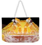 Pac Man Frog Ceratophrys On A Rock Weekender Tote Bag