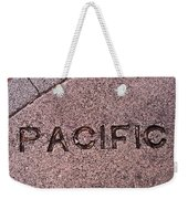 Pacific Concrete Street Sign Weekender Tote Bag