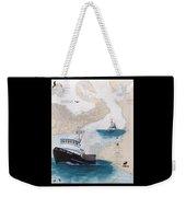 Pacific Dream Crab Fishing Boat Nautical Chart Art Weekender Tote Bag