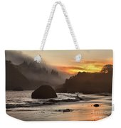 Pacific Fog And Fire Weekender Tote Bag by Adam Jewell