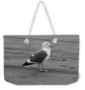 Pacific Seagull In Black And White Weekender Tote Bag
