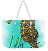 Pacific Seahorse Weekender Tote Bag