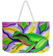 Pacific Tree Frog And Flower Weekender Tote Bag