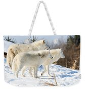 Pack Of Arctic Wolves Weekender Tote Bag