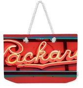 Packard Sign Aglow Weekender Tote Bag