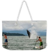 Paddle Boarders And Humpback Whale Weekender Tote Bag