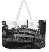 Paddle Boat Black And White Walt Disney World Weekender Tote Bag