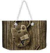 Padlock Black And White Weekender Tote Bag