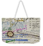 Page From The Madwoman's Notebook Weekender Tote Bag