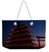 Pagoda At Sunset Weekender Tote Bag