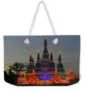 Pagoda Lantern Made With Porcelain Dinnerware At Sunset Weekender Tote Bag