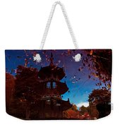 Pagoda Reflection Weekender Tote Bag