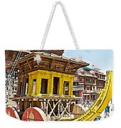 Pagoda-style Carriage In Bhaktapur Durbar Square In Bhaktapur-nepal Weekender Tote Bag