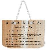 Paine: Common Sense, 1776 Weekender Tote Bag
