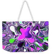 Paint Ball Color Explosion Purple Weekender Tote Bag by Andee Design