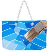Paint Brush - Blue Weekender Tote Bag