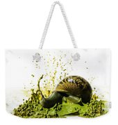 Paint Sculpture And Snail 2 Weekender Tote Bag