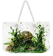 Paint Sculpture And Snail 3 Weekender Tote Bag