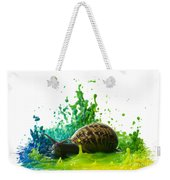 Paint Sculpture And Snail 4 Weekender Tote Bag