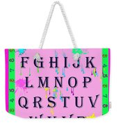 Paint Spattered Primary Learning Weekender Tote Bag