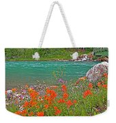 Paintbrush By Bow River In Banff Np-ab Weekender Tote Bag