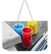 Paintbrushes With Canvas Weekender Tote Bag