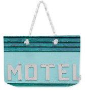 Painted Blue-green Historic Motel Facade Siding Weekender Tote Bag